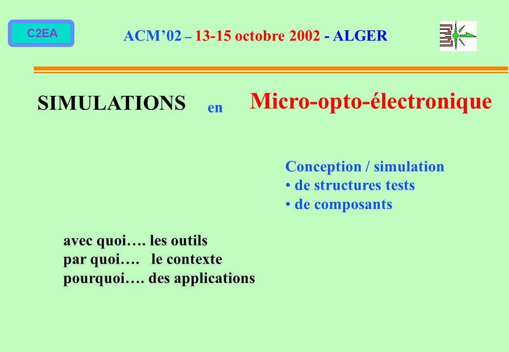Micro-opto-électronique