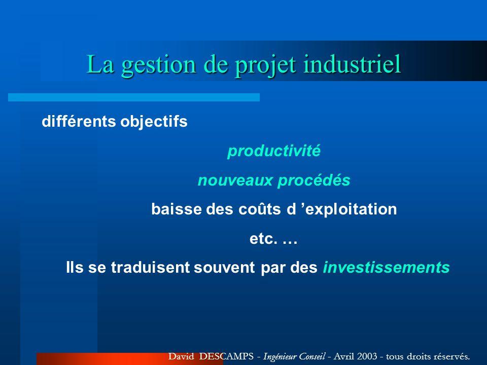 La gestion de projet industriel