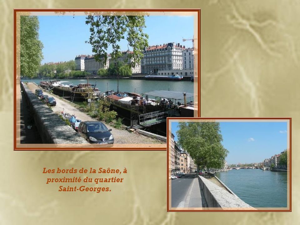 Les bords de la Saône, à proximité du quartier