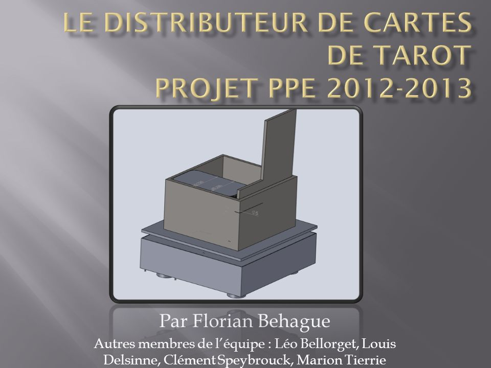 Le distributeur de cartes de tarot Projet PPE 2012-2013