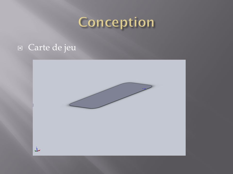 Conception Carte de jeu