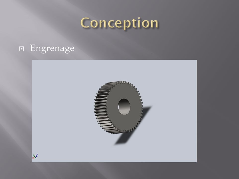 Conception Engrenage