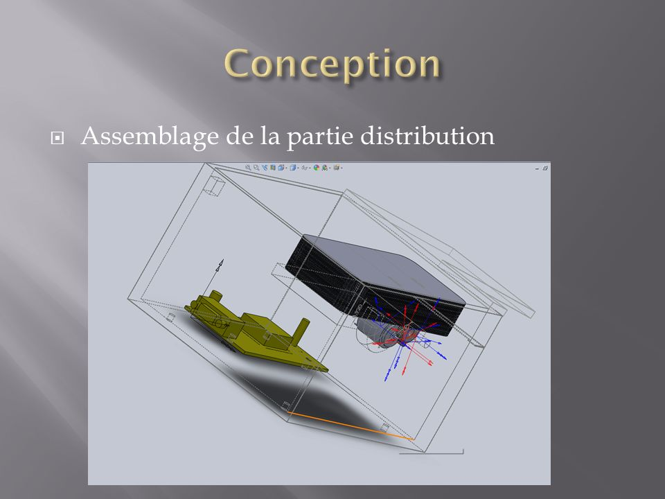 Conception Assemblage de la partie distribution