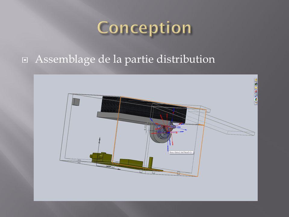 Conception Assemblage de la partie distribution