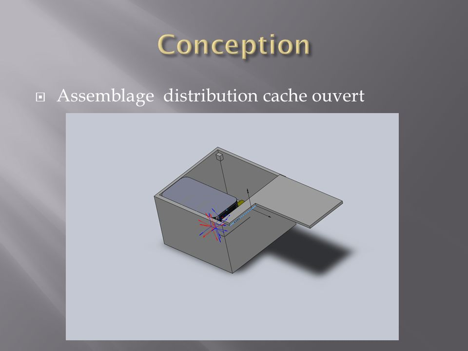 Conception Assemblage distribution cache ouvert