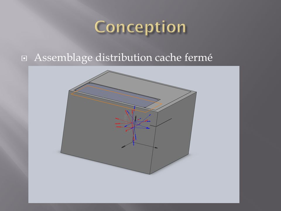 Conception Assemblage distribution cache fermé