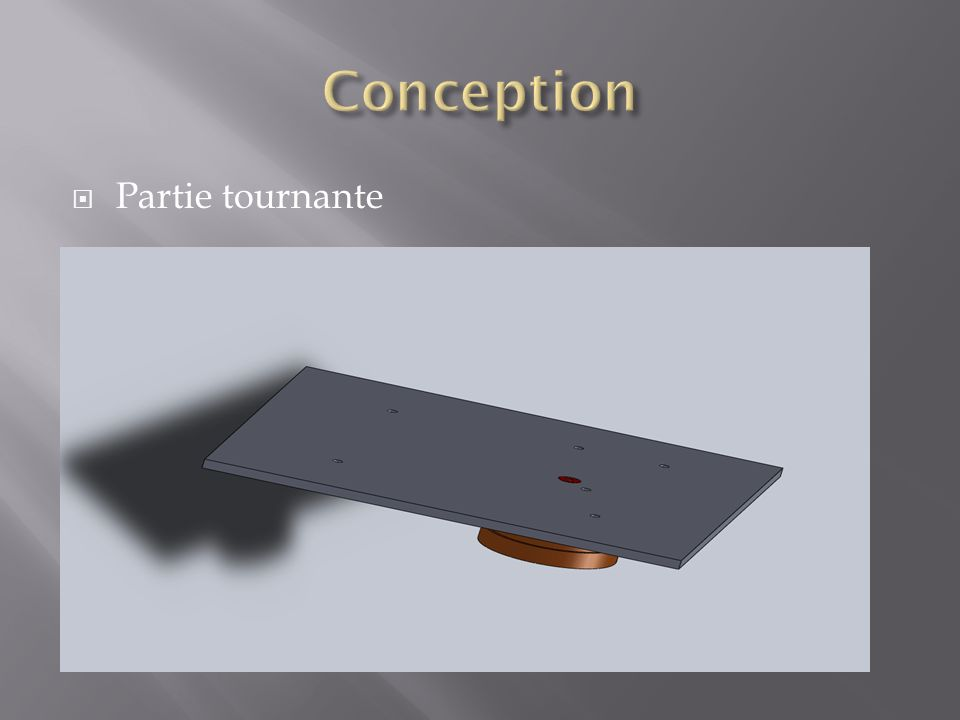 Conception Partie tournante