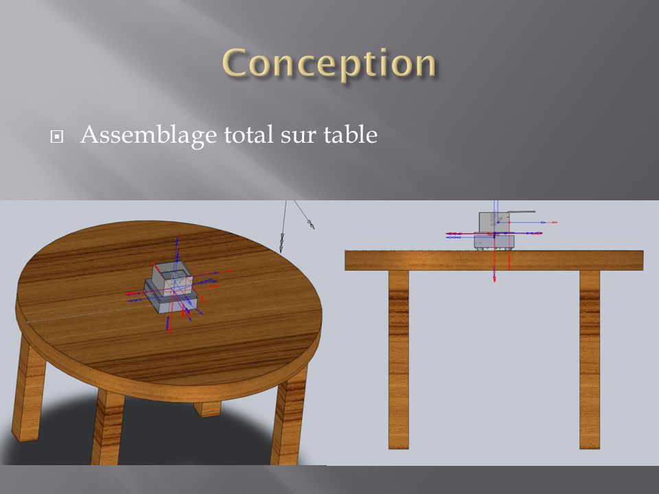 Conception Assemblage total sur table
