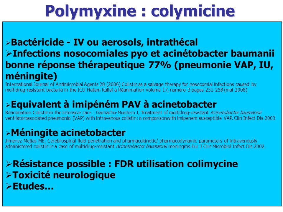 Polymyxine : colymicine