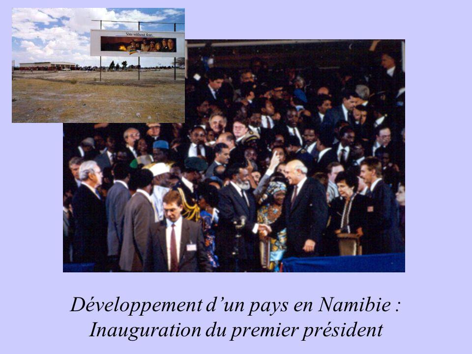 Développement d'un pays en Namibie : Inauguration du premier président