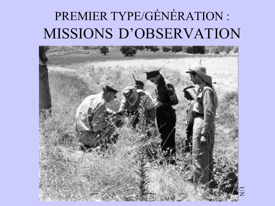 PREMIER TYPE/GÉNÉRATION : MISSIONS D'OBSERVATION