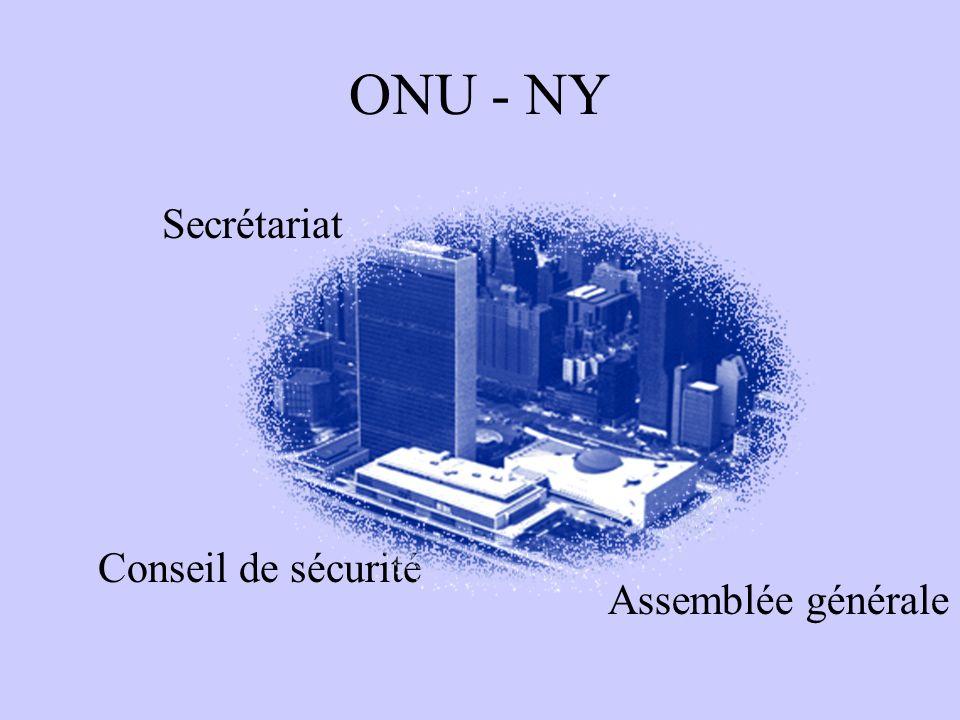 ONU - NY Secrétariat Conseil de sécurité Assemblée générale