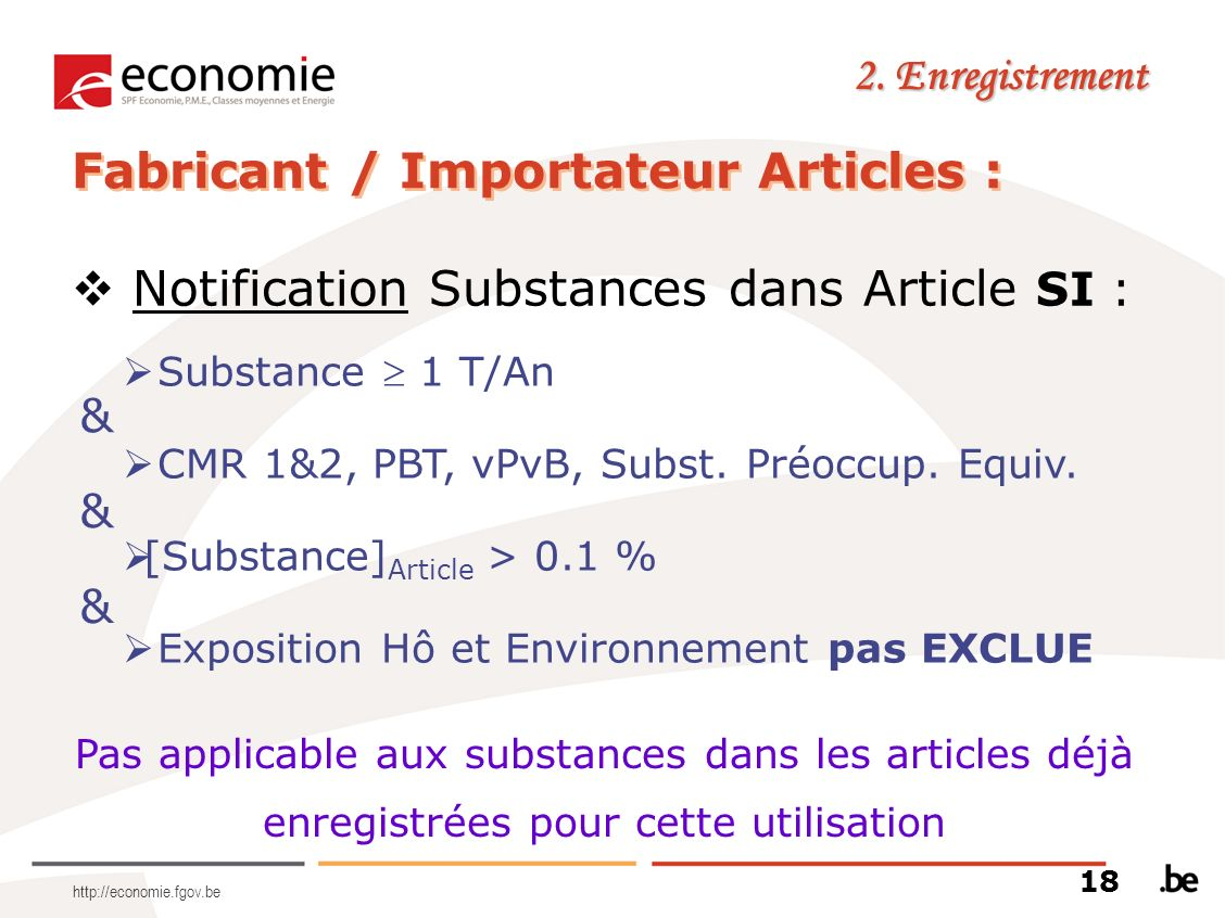 Fabricant / Importateur Articles :