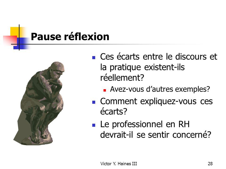 Pause réflexion Ces écarts entre le discours et la pratique existent-ils réellement Avez-vous d'autres exemples