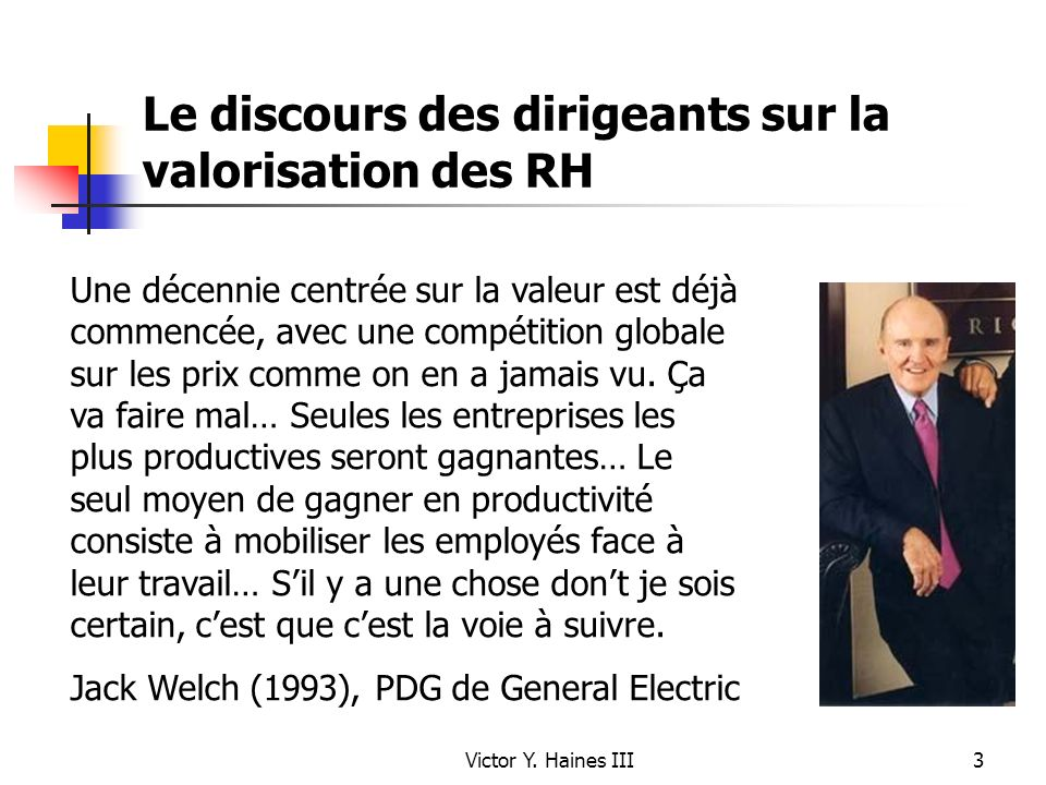 Le discours des dirigeants sur la valorisation des RH