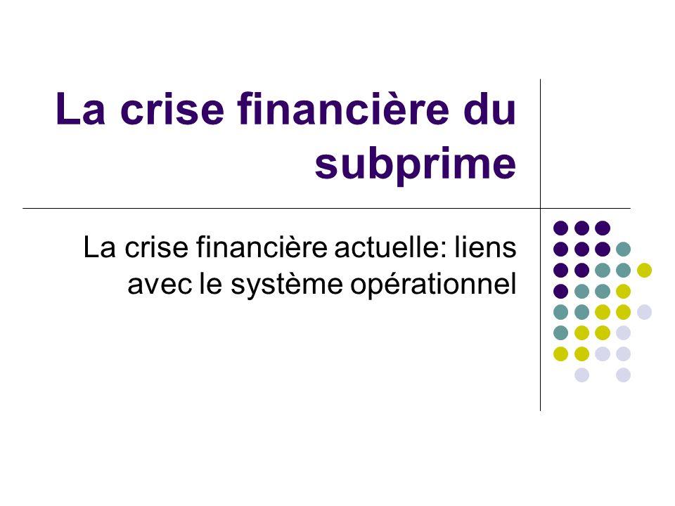 La crise financière du subprime