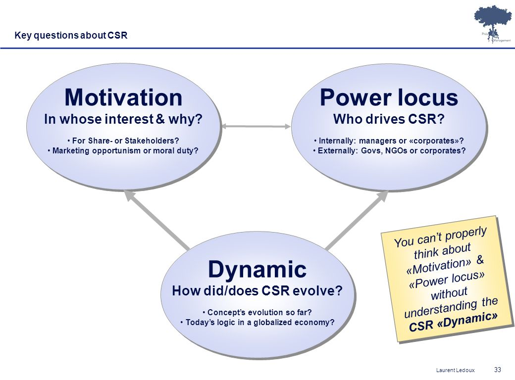 Motivation Power locus Dynamic