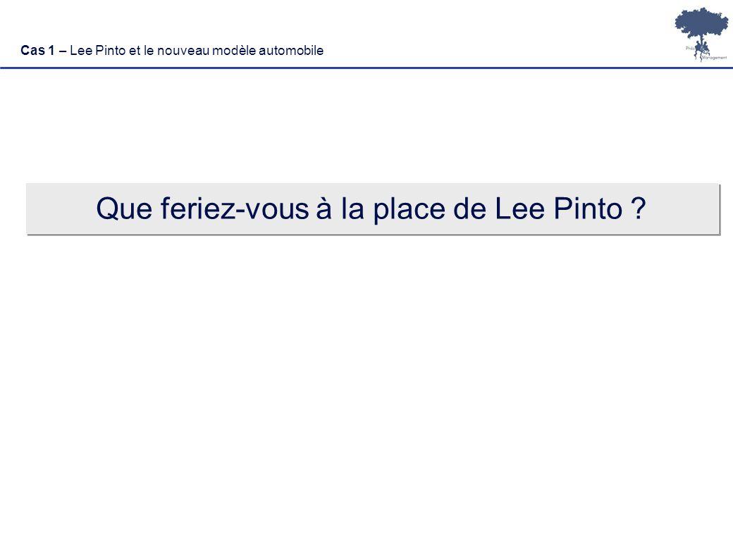 Que feriez-vous à la place de Lee Pinto