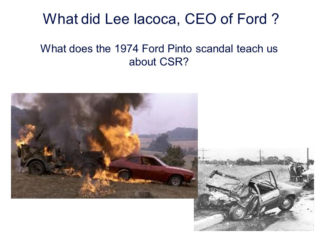 What did Lee Iacoca, CEO of Ford