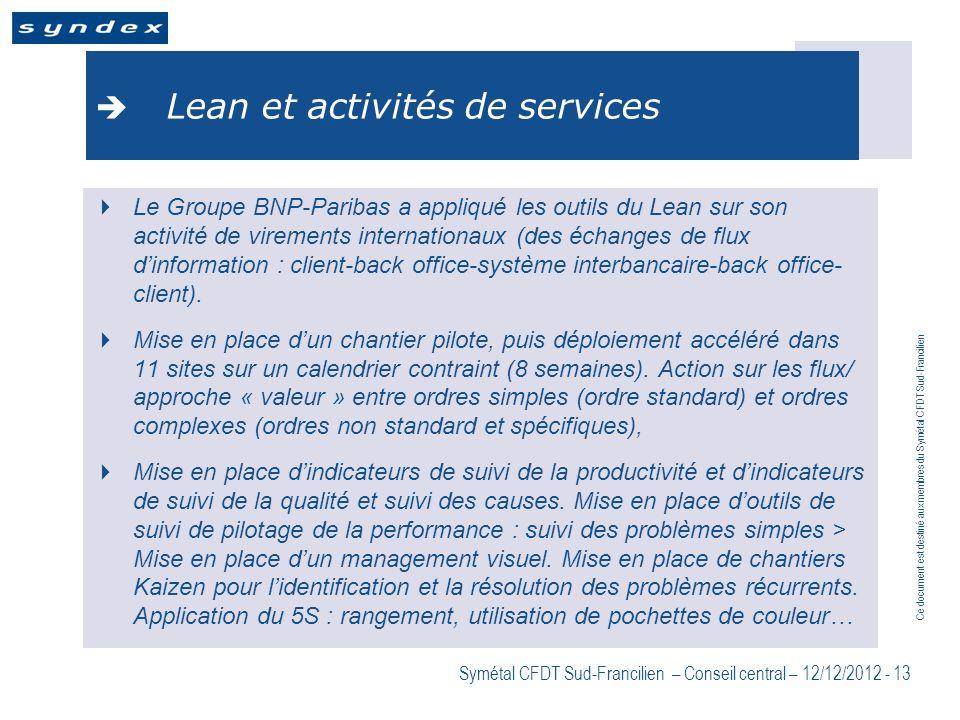 Lean et activités de services