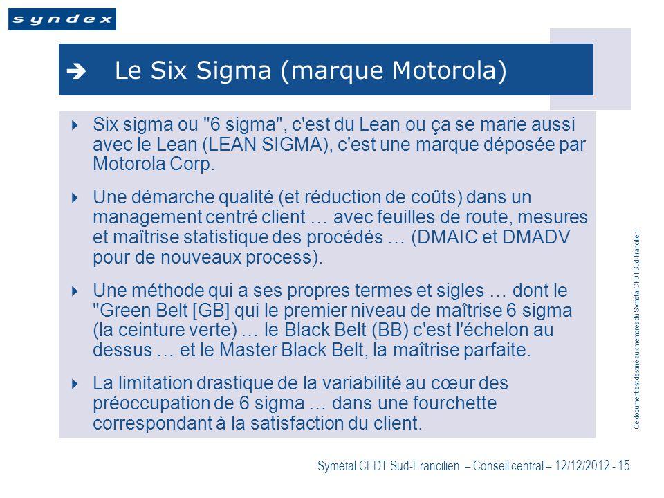 Le Six Sigma (marque Motorola)
