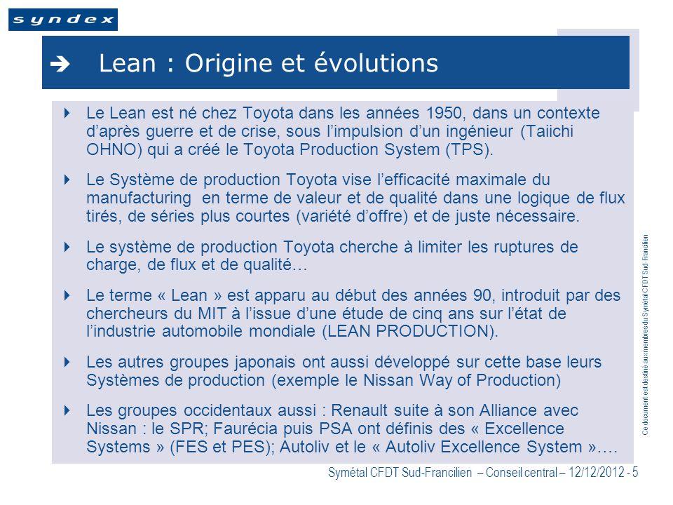 Lean : Origine et évolutions