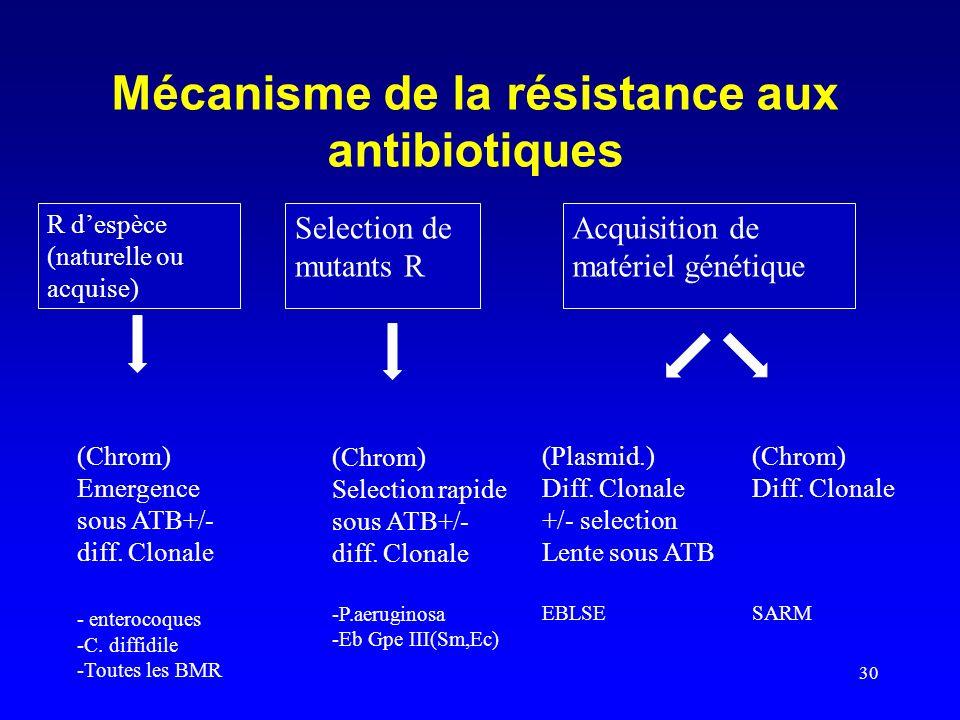 Mécanisme de la résistance aux antibiotiques