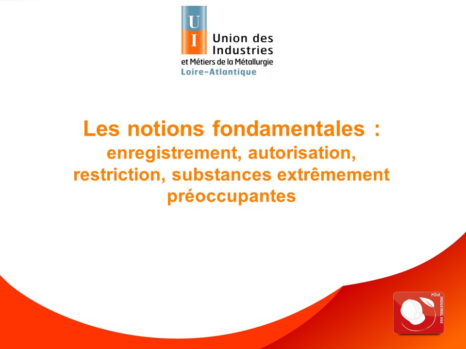 Les notions fondamentales : enregistrement, autorisation, restriction, substances extrêmement préoccupantes