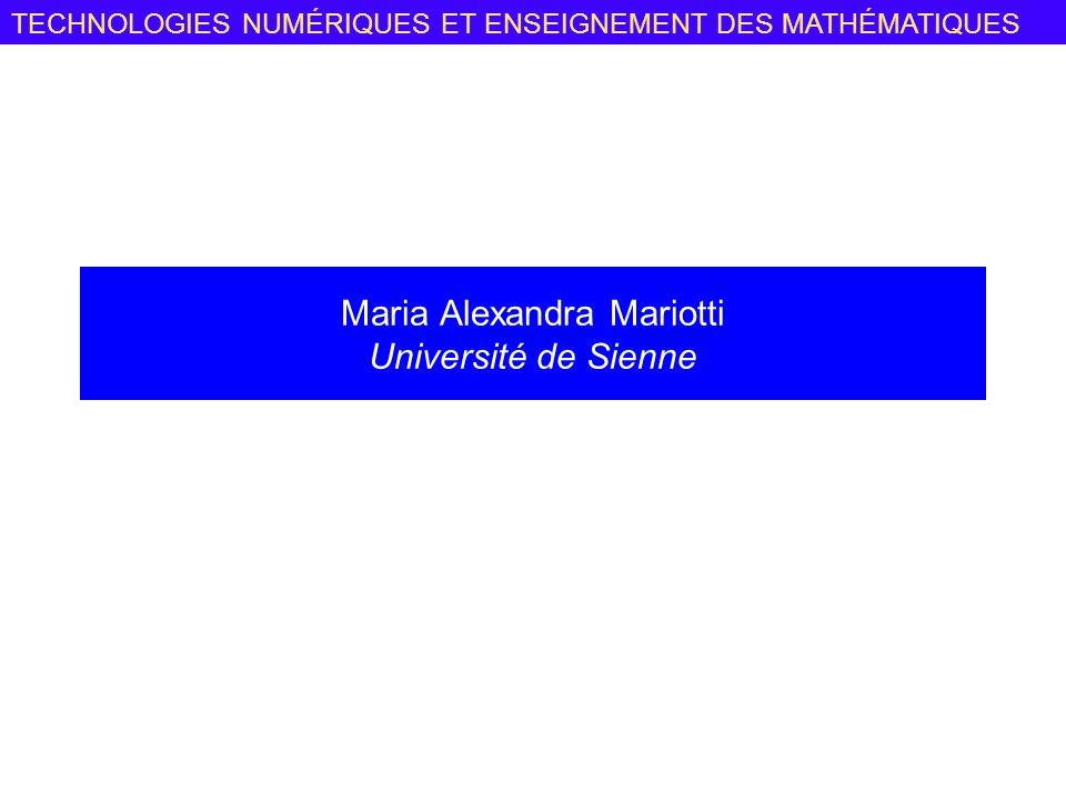 Maria Alexandra Mariotti Université de Sienne