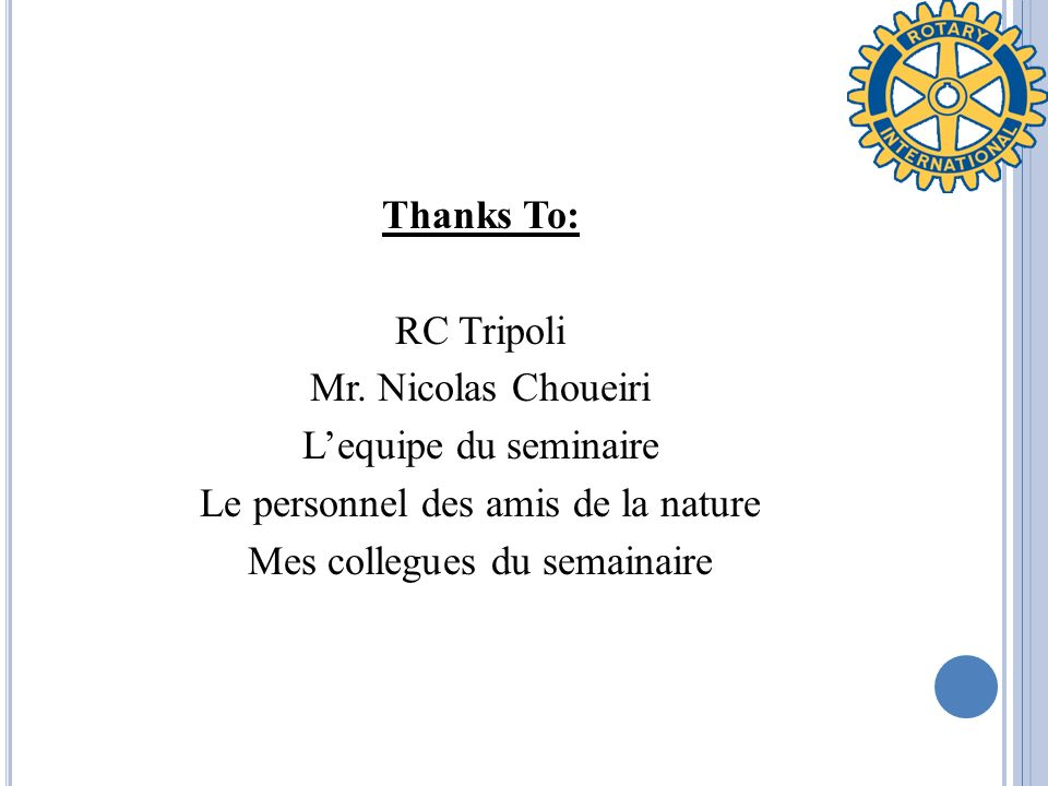 Thanks To: RC Tripoli Mr