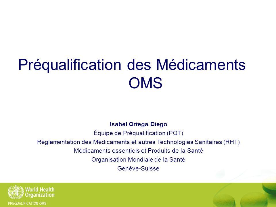 Préqualification des Médicaments OMS