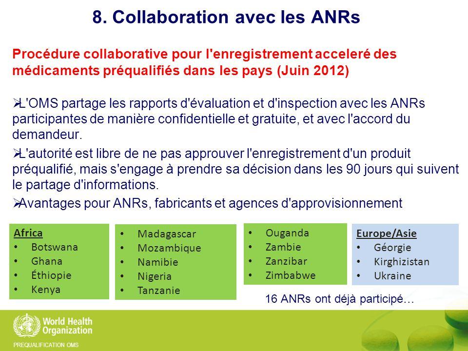 8. Collaboration avec les ANRs