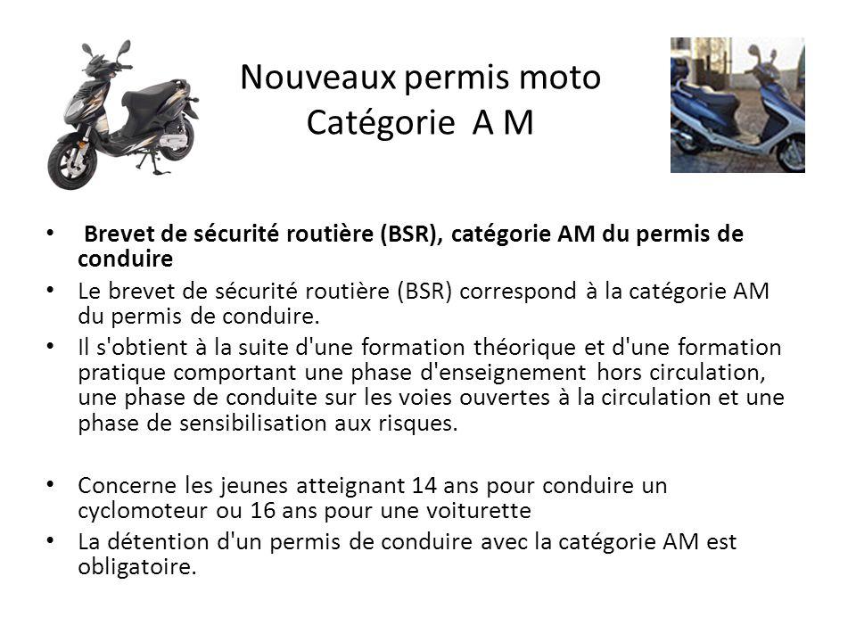 Nouveaux permis moto Catégorie A M