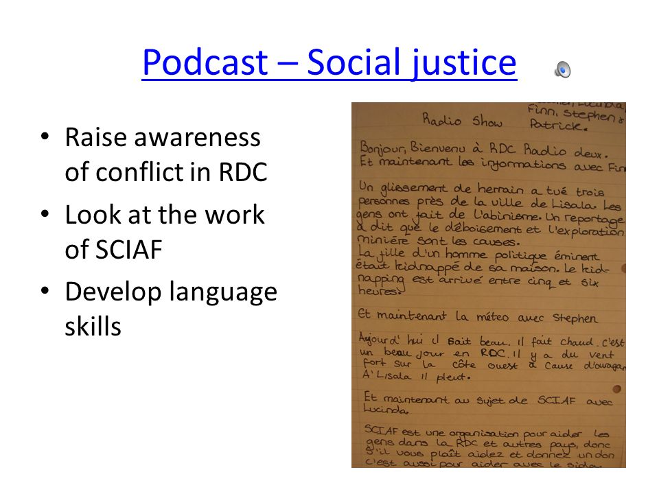Podcast – Social justice