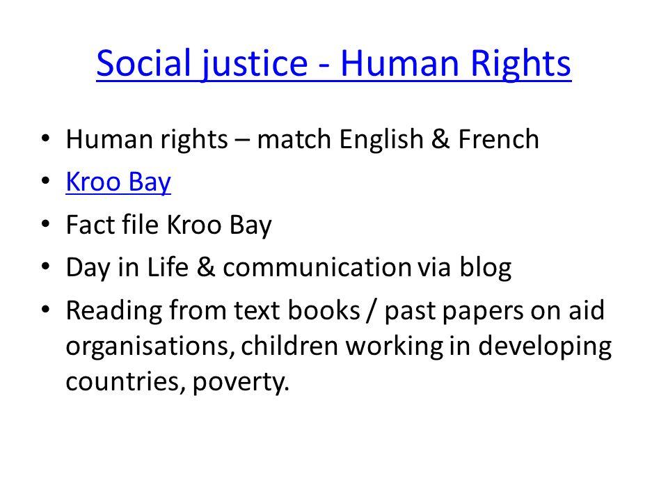 Social justice - Human Rights