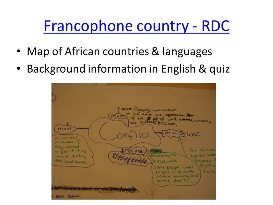 Francophone country - RDC
