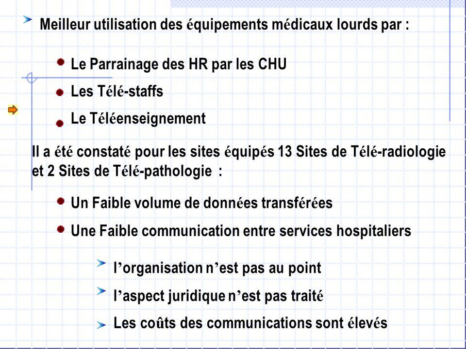 Meilleur utilisation des équipements médicaux lourds par :