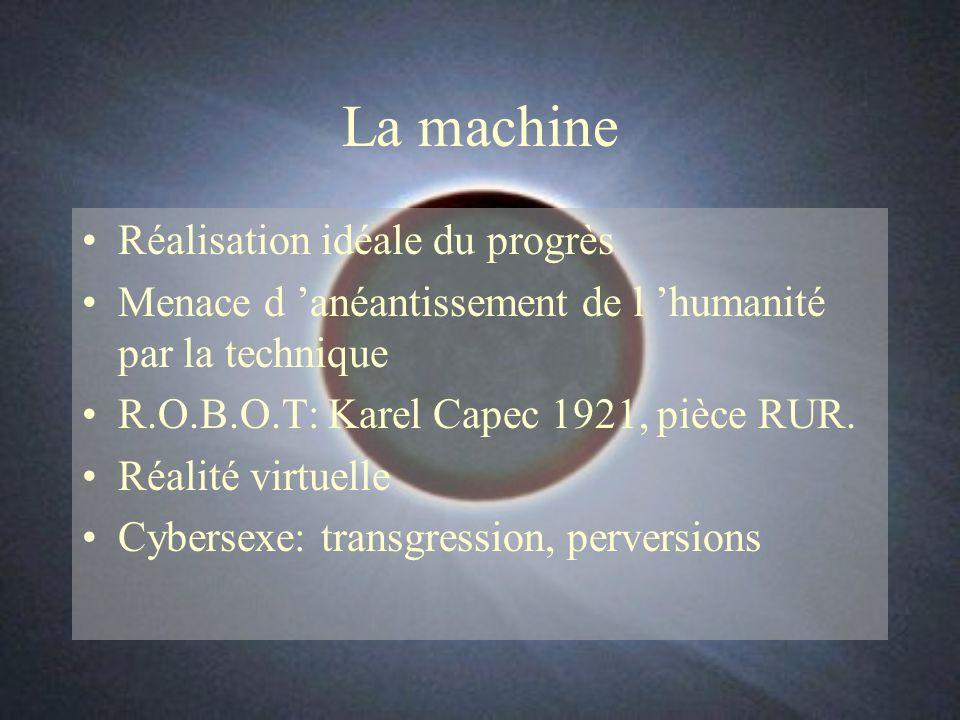 La machine Réalisation idéale du progrès