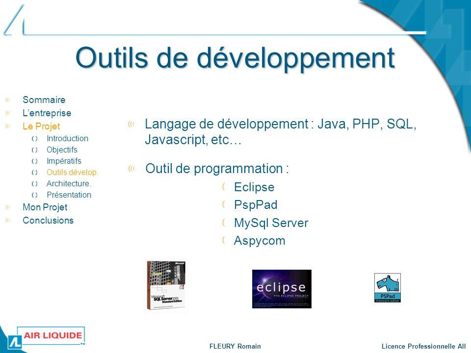 Outils de développement