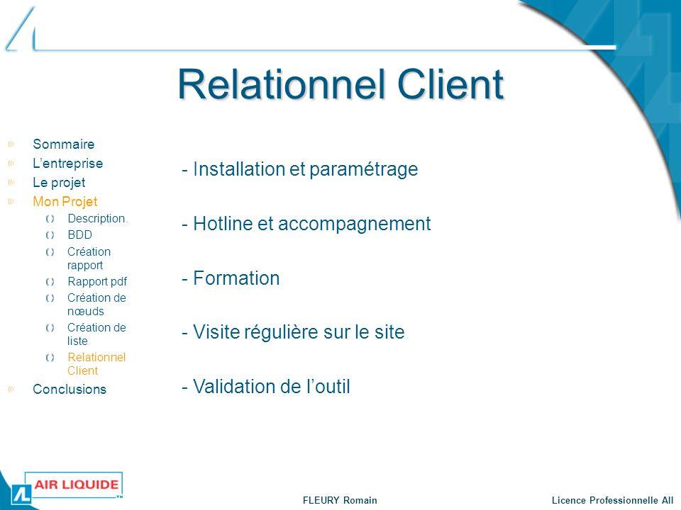 Relationnel Client - Installation et paramétrage