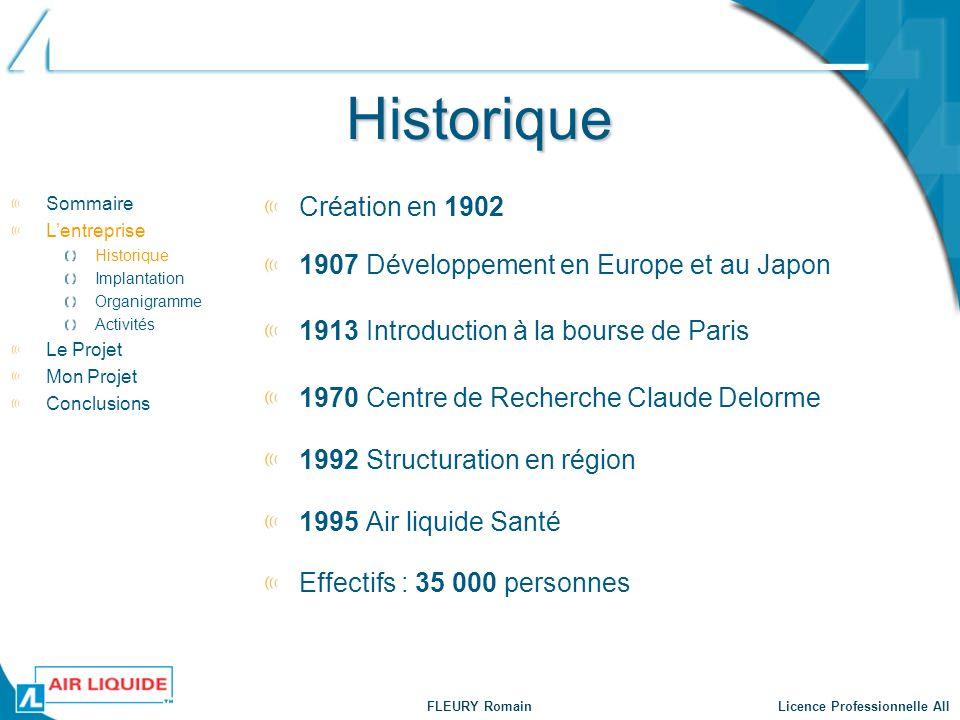 Historique Création en 1902 1907 Développement en Europe et au Japon