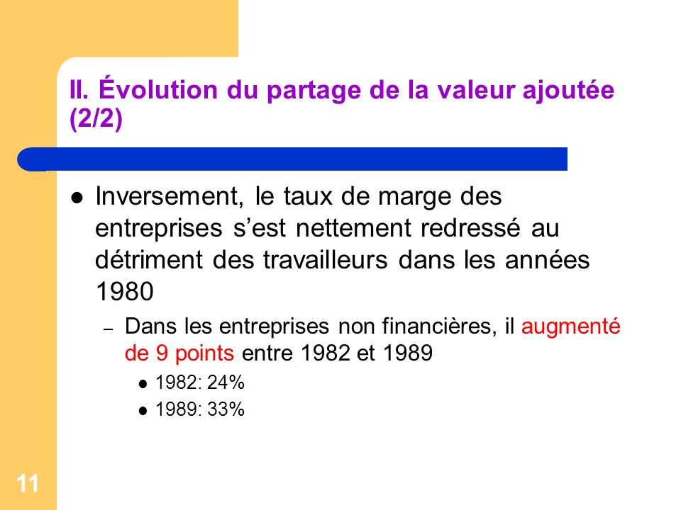 II. Évolution du partage de la valeur ajoutée (2/2)