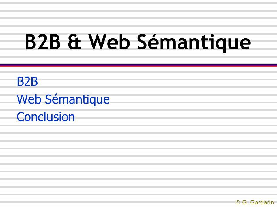 B2B Web Sémantique Conclusion