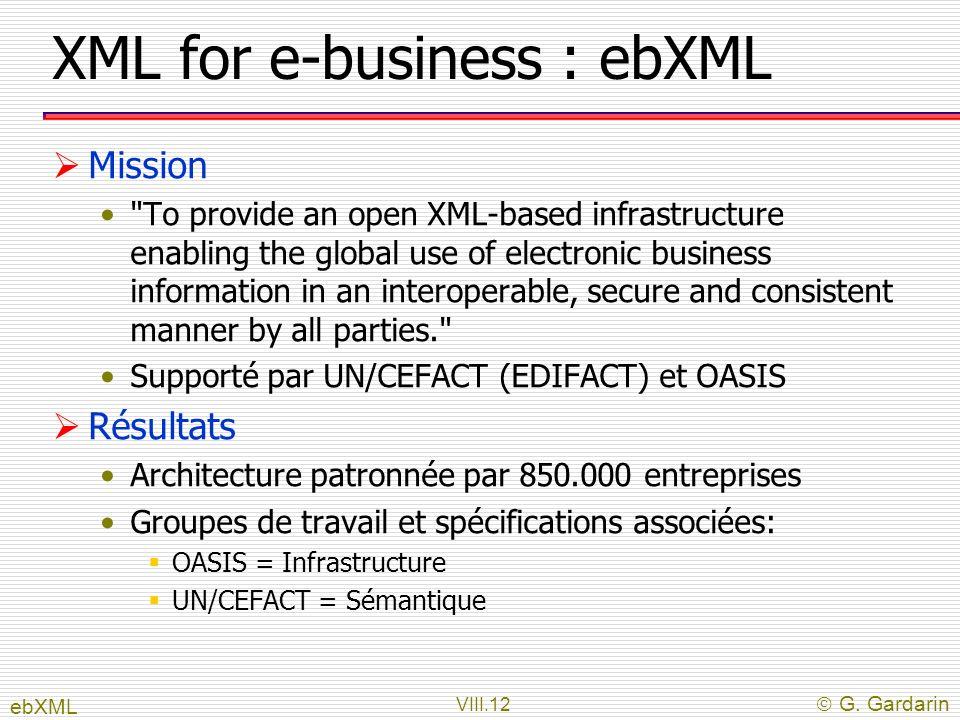XML for e-business : ebXML