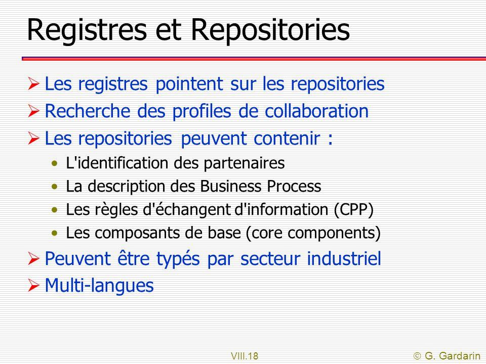 Registres et Repositories