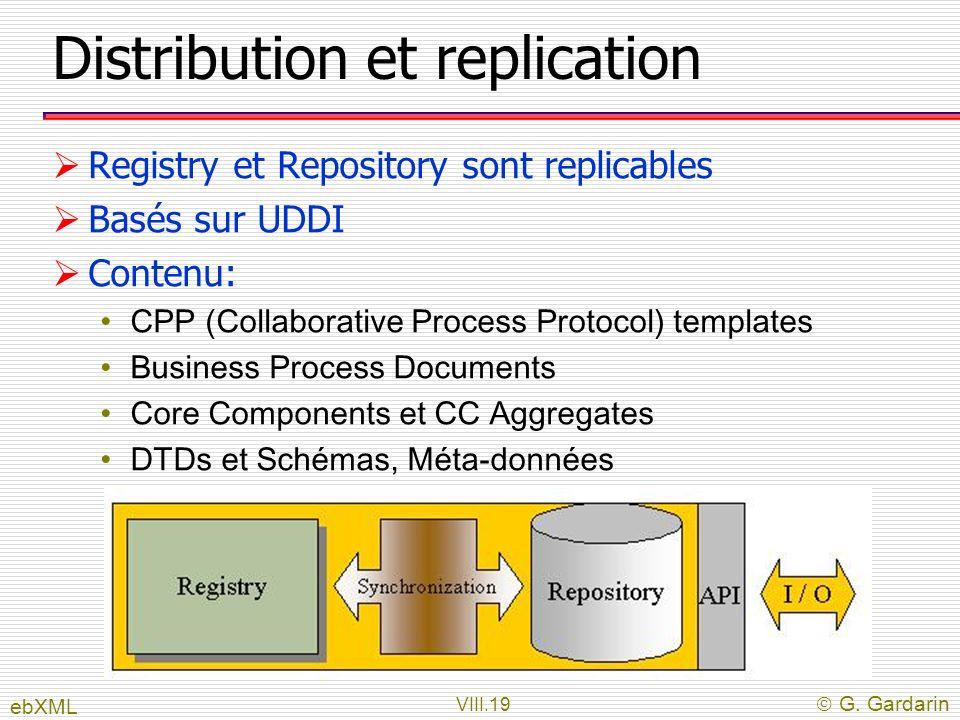 Distribution et replication