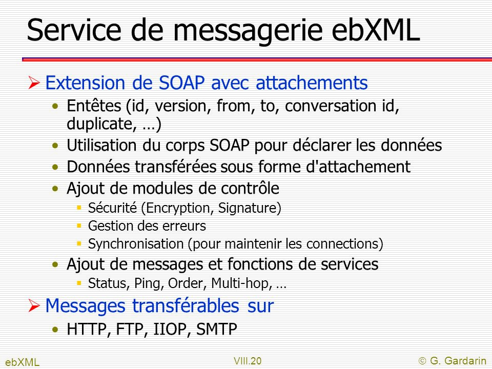 Service de messagerie ebXML