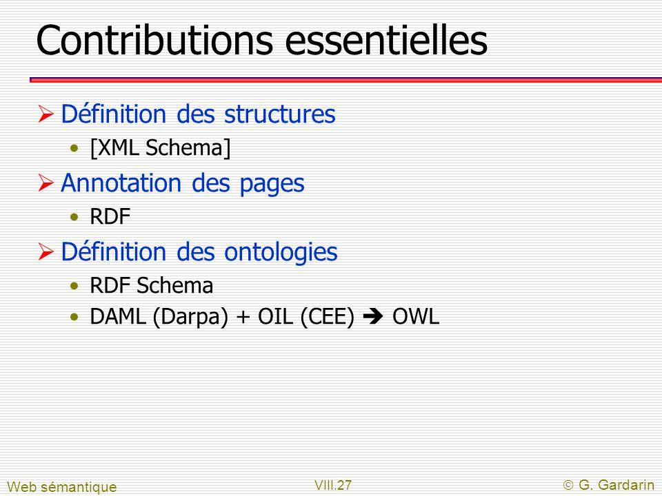 Contributions essentielles