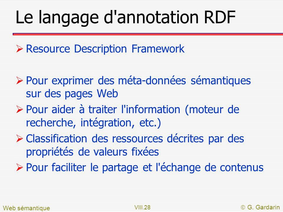 Le langage d annotation RDF