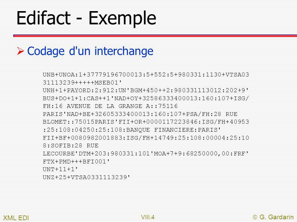 Edifact - Exemple Codage d un interchange